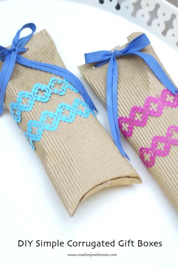 Diy Corrugated Craft Cardboard Gift Boxes Creative Jewish Mom