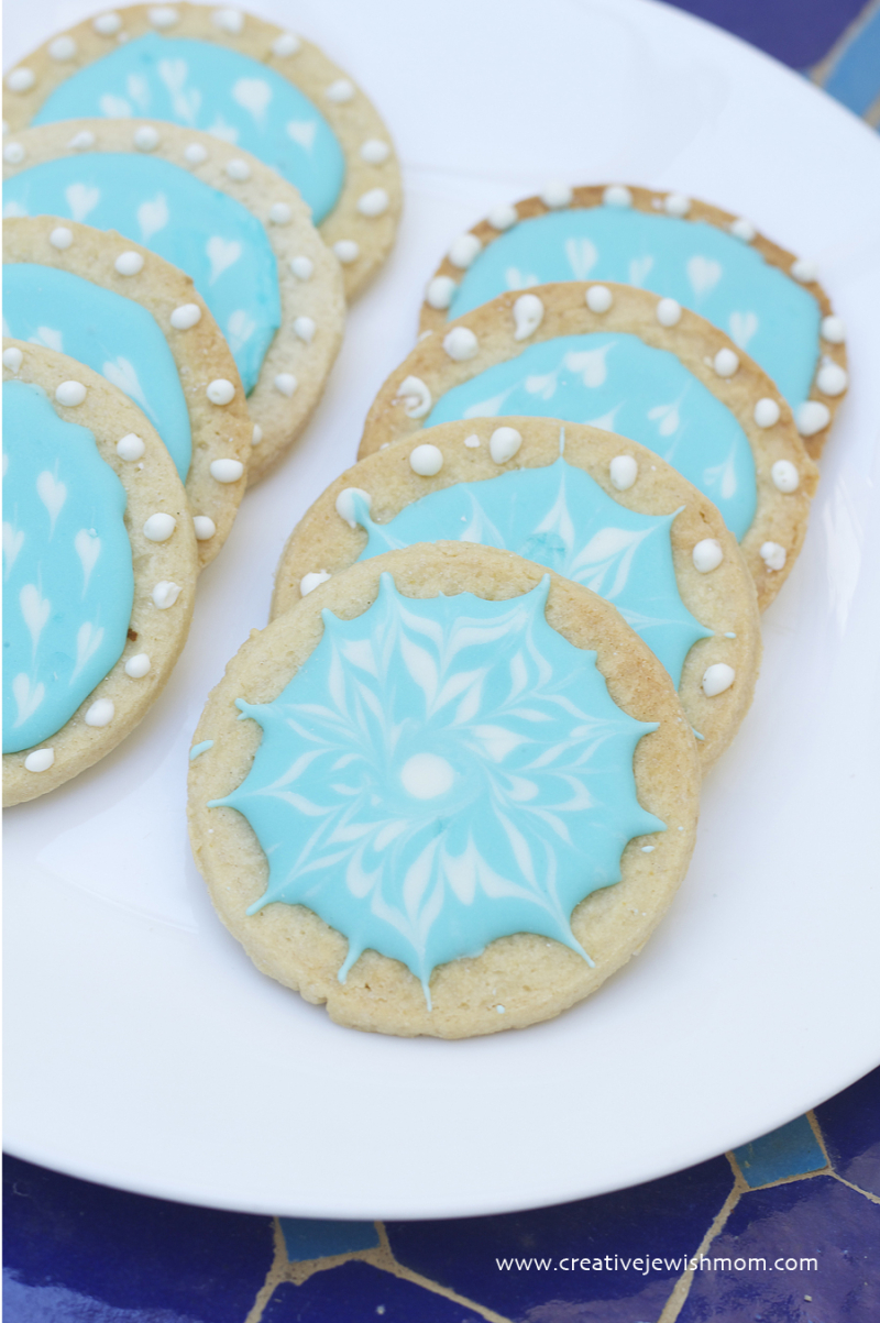 Royal Icing On Sugar Cookies Hanukkah