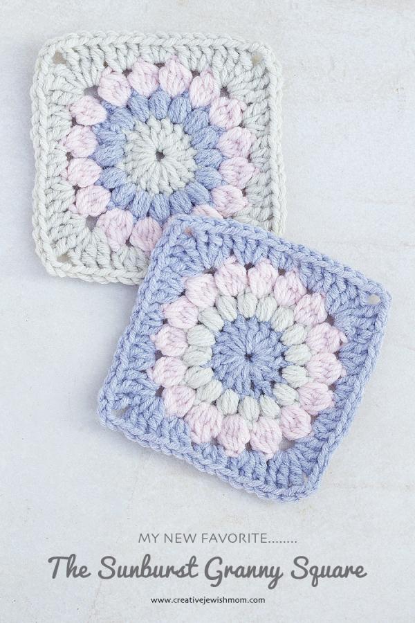 Crocheted Sunburst Granny Square Pattern Creative Jewish Mom