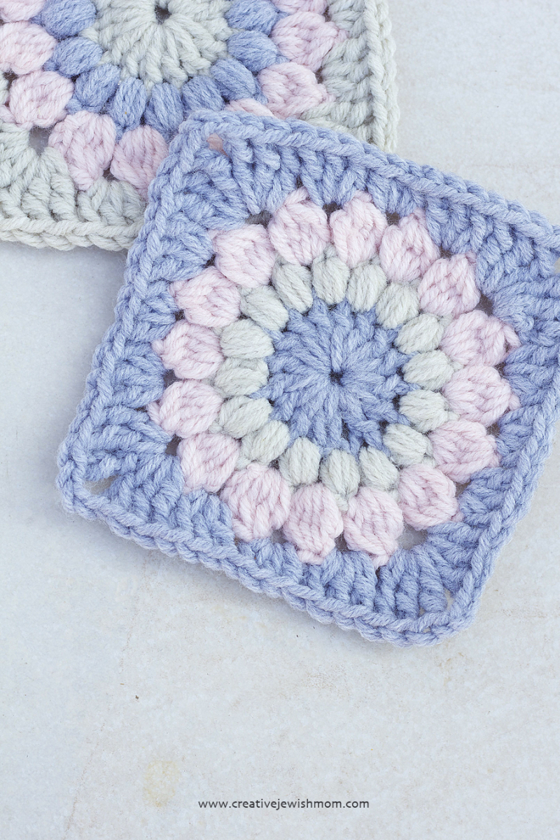 Crocheted Sunburst Granny Square