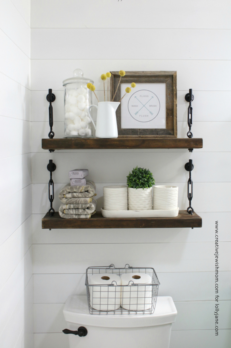 DIY turnbuckle shelves