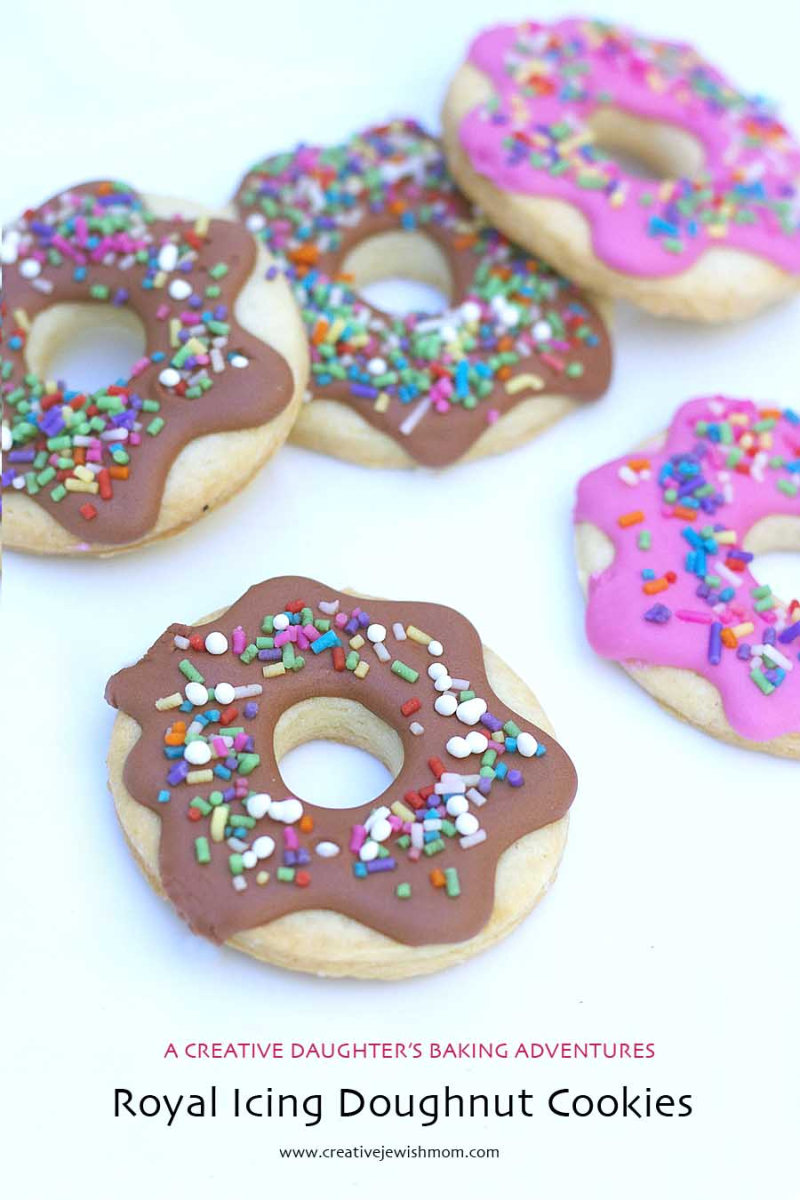 Royal Icing Doughnut Cookies With sprinkles