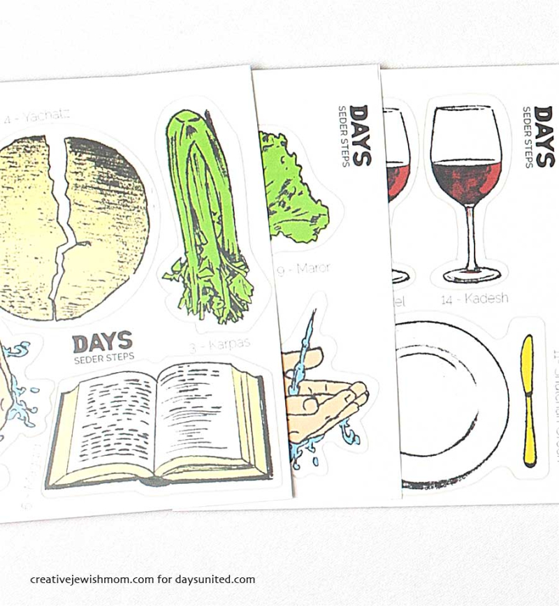 Passover Seder Stickers