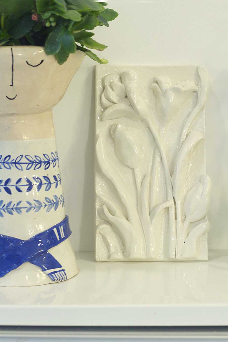 Ceramic Flowers Wall Hanging