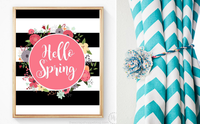 Hello-spring-free-printable magnetic-curtain-tie-back