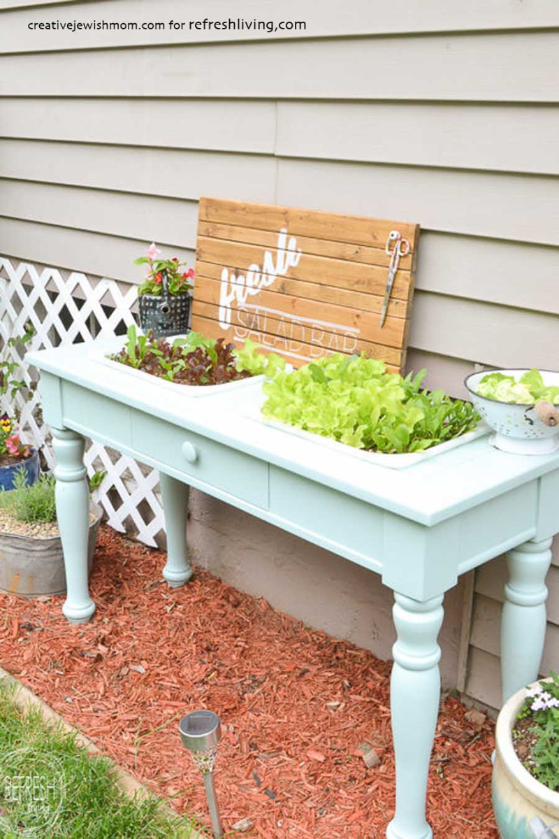 DIY-raised-garden-bed-from-an-old-sofa-table