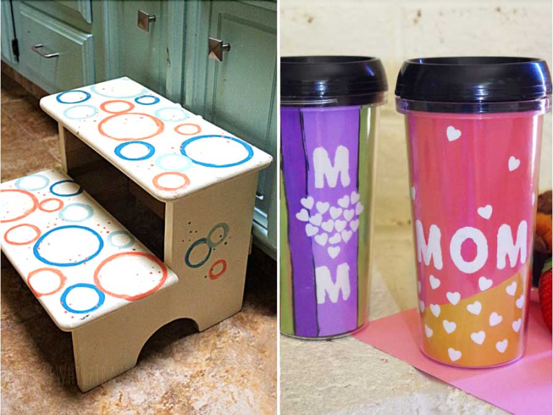 DIY-Polka-Dot-Kids-Step-Stool-Makeover travel-coffee-mug-for-mom