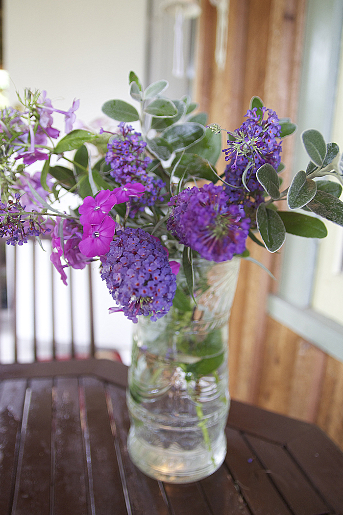 Wild Phlox and Buddleia Bouquet For Shabbat