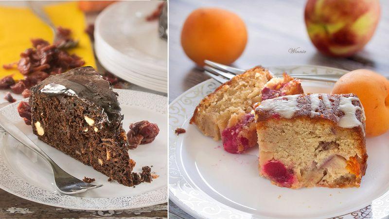 Chocolate cake,fruit coffee cake