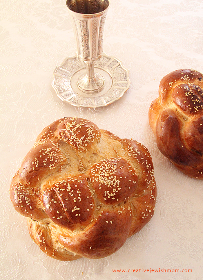 Round Braided Challah made simple for rosh hashana