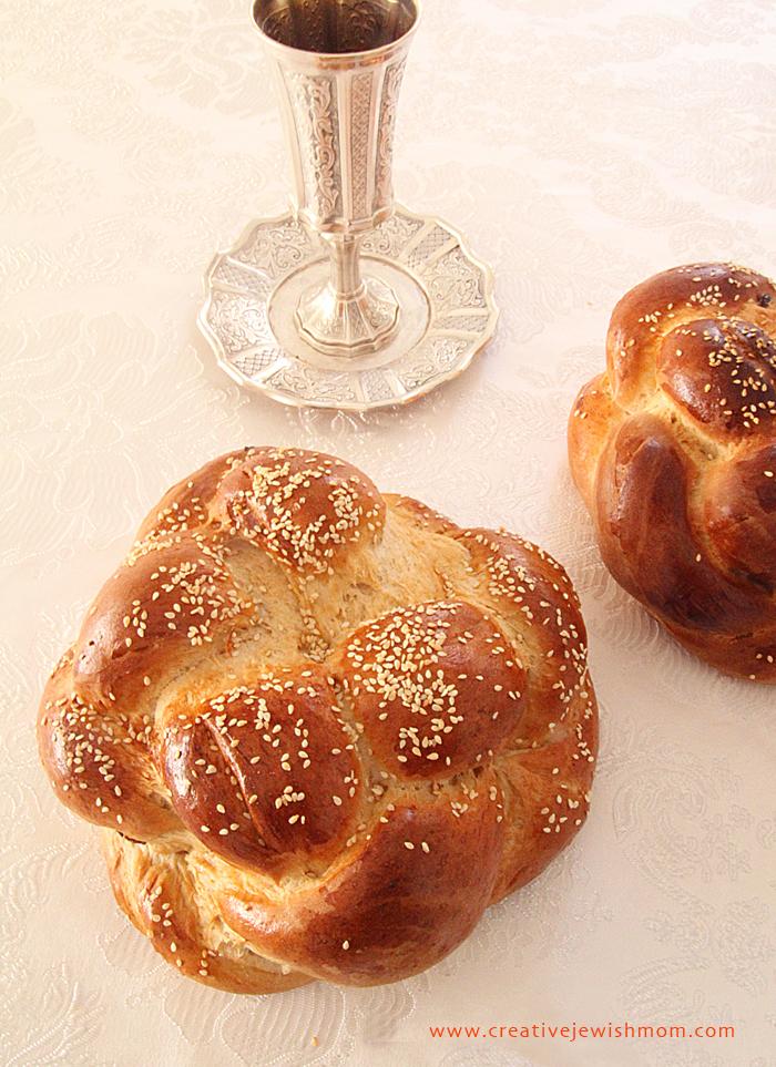Round Braided Challah made simple for rosh hashana