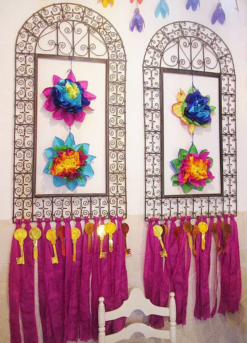 A Sukkah With Soda Bottle Flowers In Rainbow Colors Creative