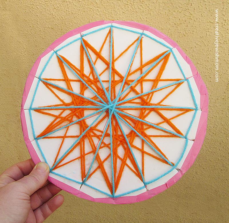 Geometric String Craft Stars Hanukkah craft