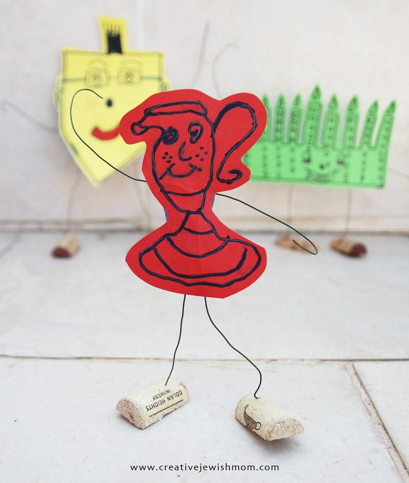 Hanukkah kids crafts dancing hanukkah characters