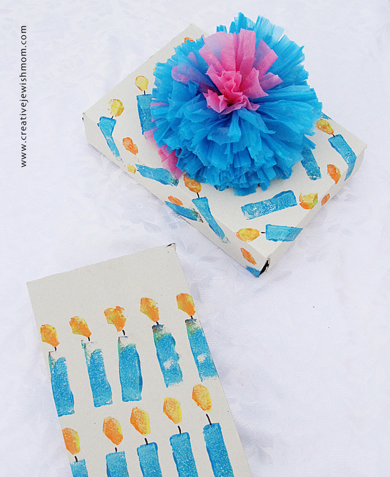 Hanukkah kids craft potato print packages