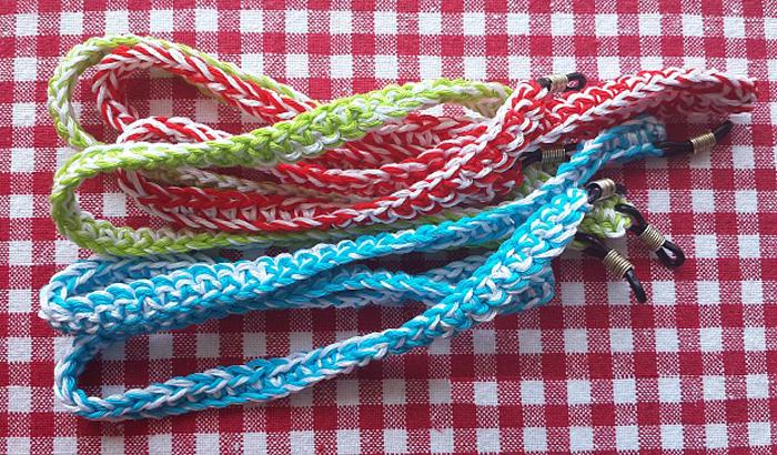 Crocheted eyeglass chains