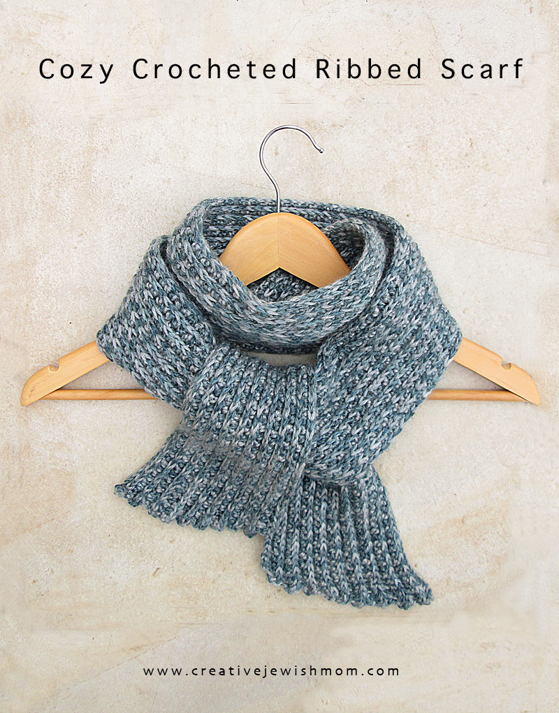 Crocheted Ribbed Scarf quick