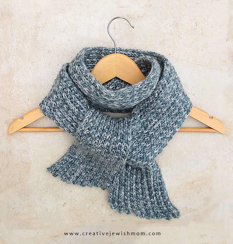 Crocheted Ribbed Scarf on hanger