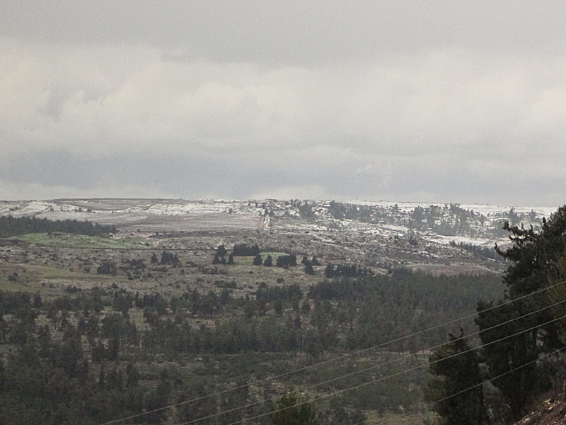 Snow Light in Galil Israel 2015