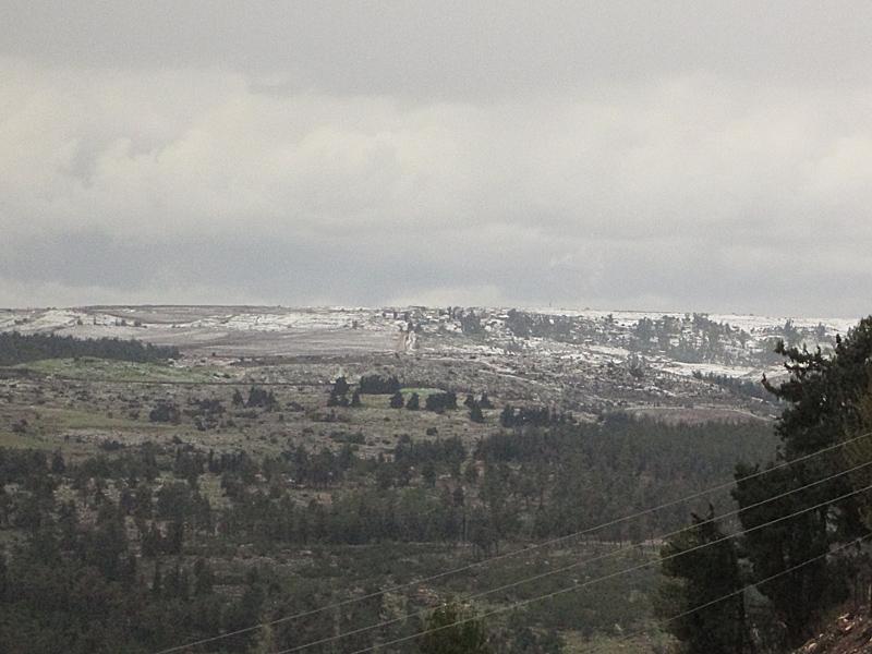 Snow Light in Galil Israel 2015
