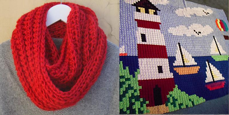 Crochet yo-yo rug,chunky crocheted cowl