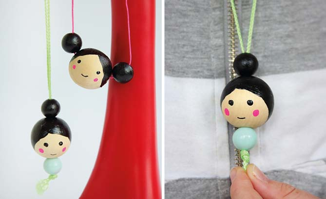 Dolls face necklace
