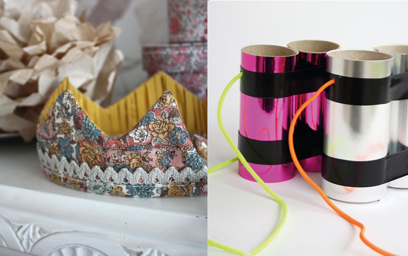 Fabric kid's crown,tp tube binoculars