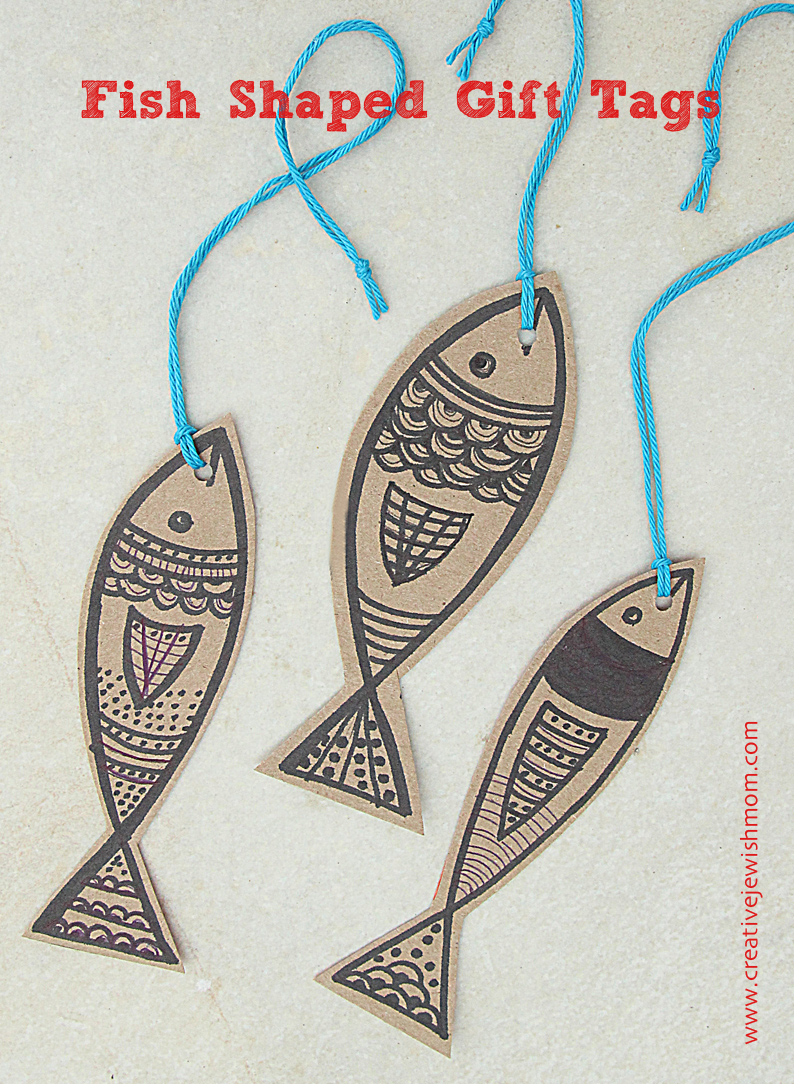 Fish Shaped Gift Tags For Purim