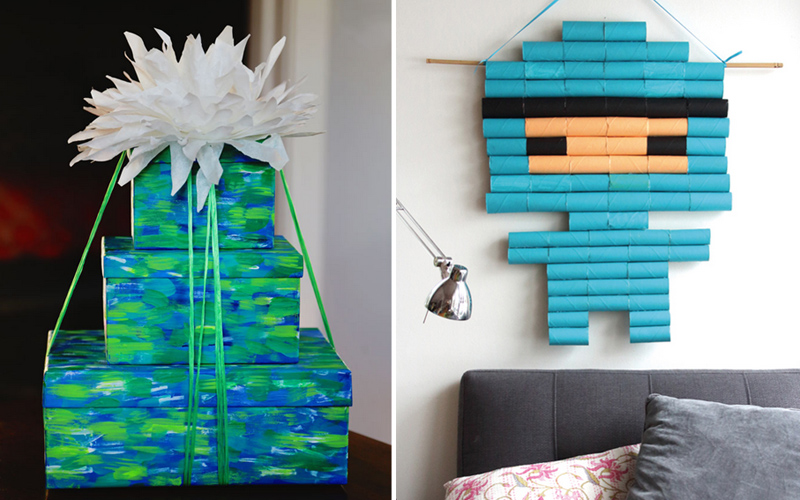Tp tube wall art,monet water lilies gift boxes