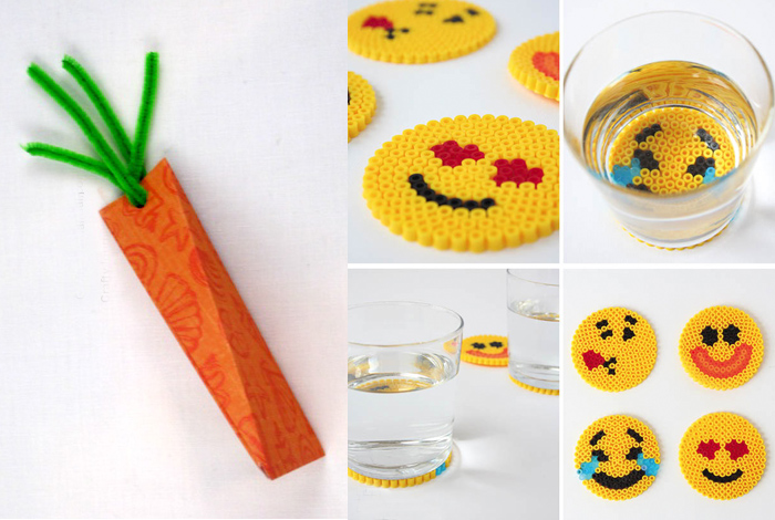 Carrot gift box,hama bead coasters