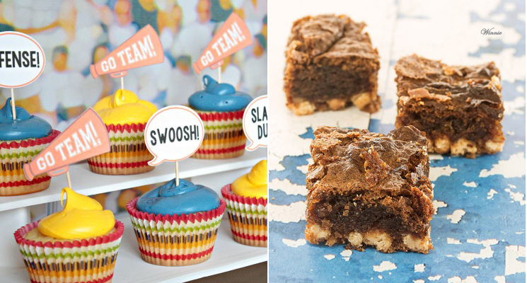 Passover blondies,cupcakes for basketball party