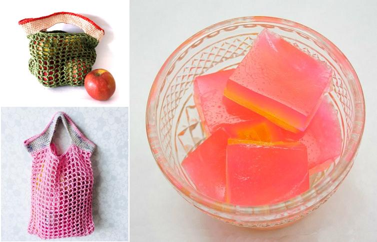 Jelly Homemade Soap,crocheted market bags