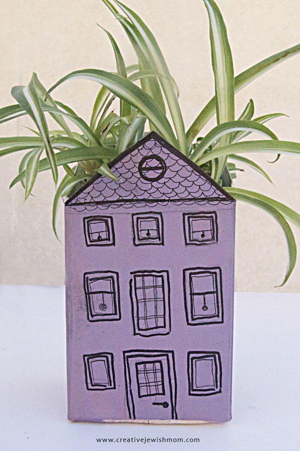 Summer Crafts For Kids A Recyled Milk Carton Roof Garden