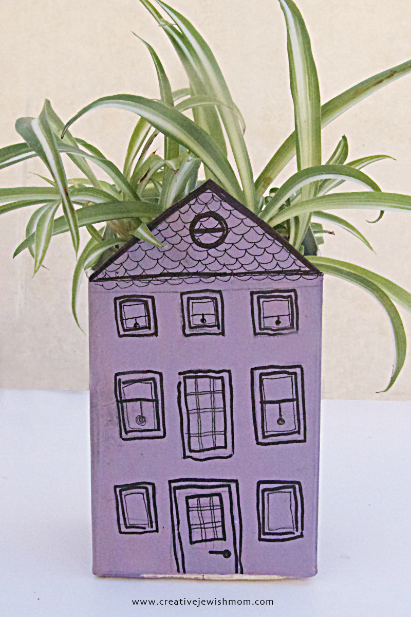 Milk Carton Roof Garden Add Plants, Step 7