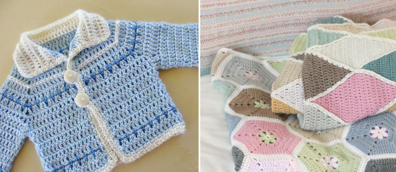 Crocheted baby boy cardigan,crocheted pastel blankets