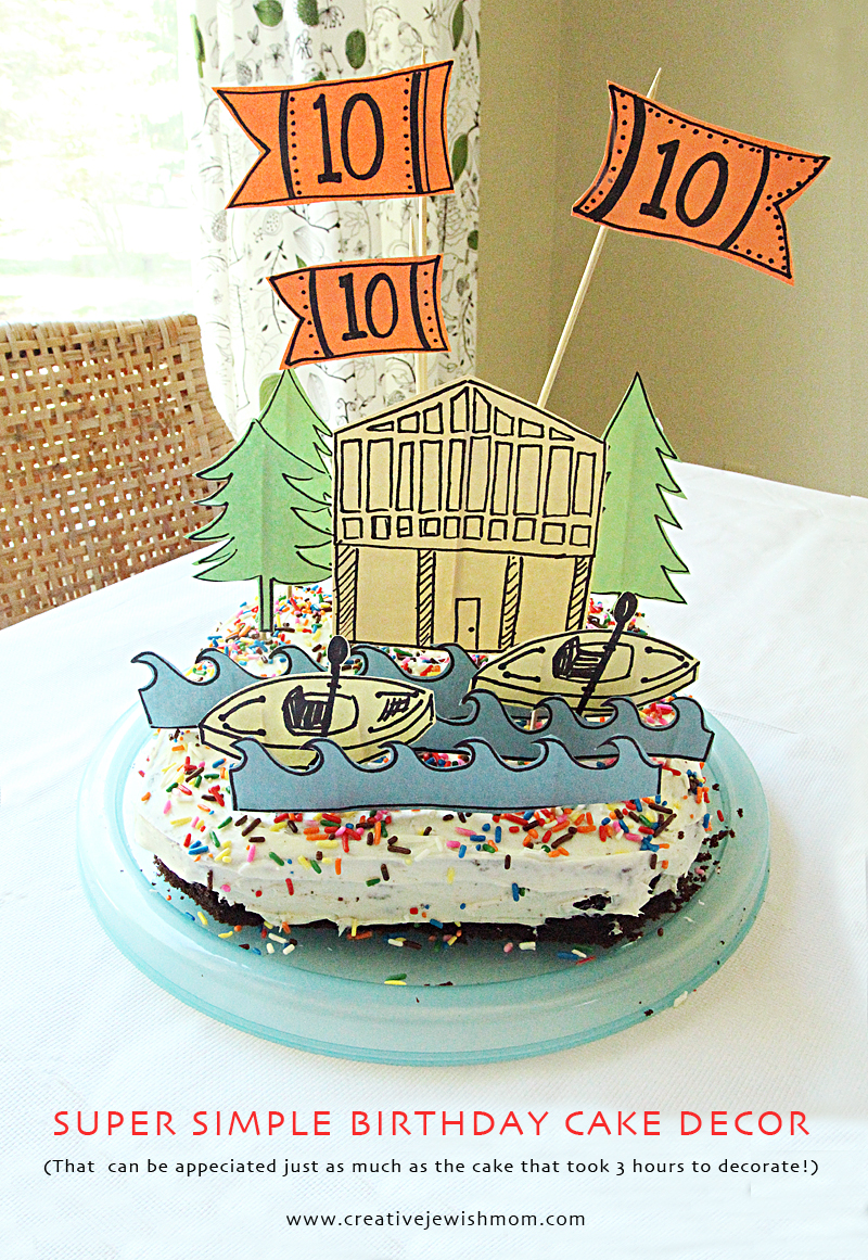 Birthday Cake Super Simple Lake Theme Decorations