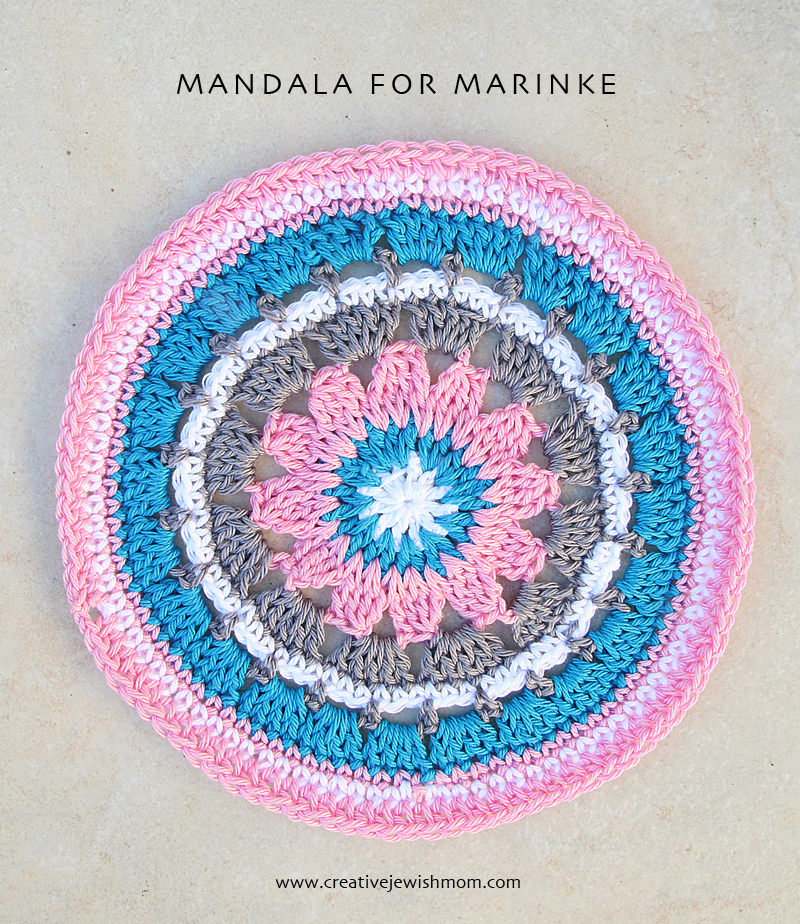 Crocheted Mandala For Marinke