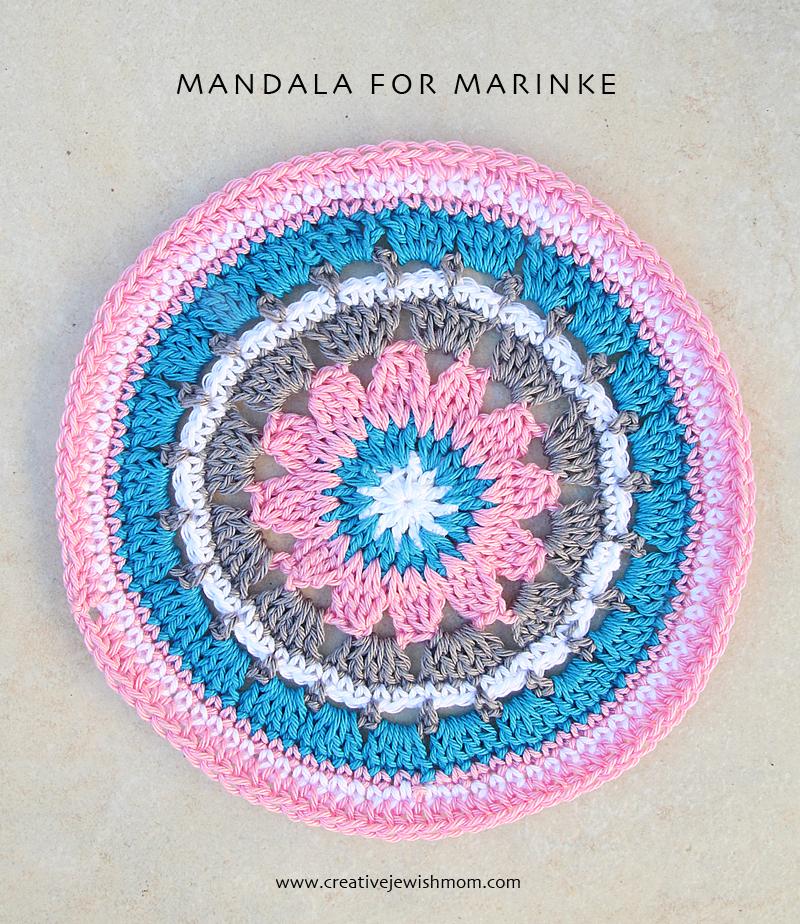 Crocheted Mandala For Marinke
