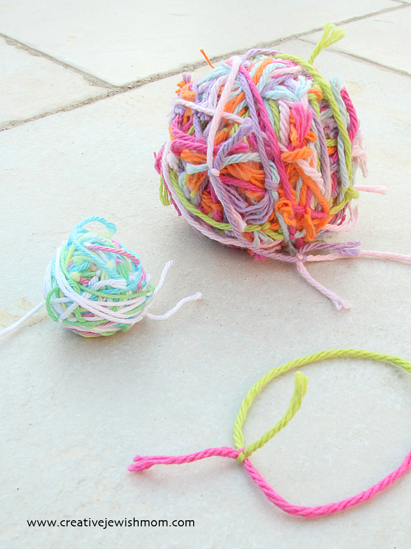 Balls Of Yarn From colorful scraps