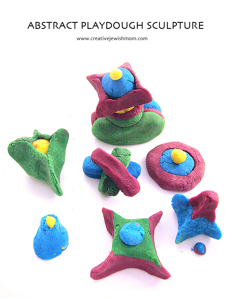 Playdough Idea For Kids Abrstract Sculpture