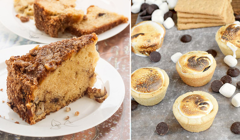 Smores muffins, snickerdoodles cake