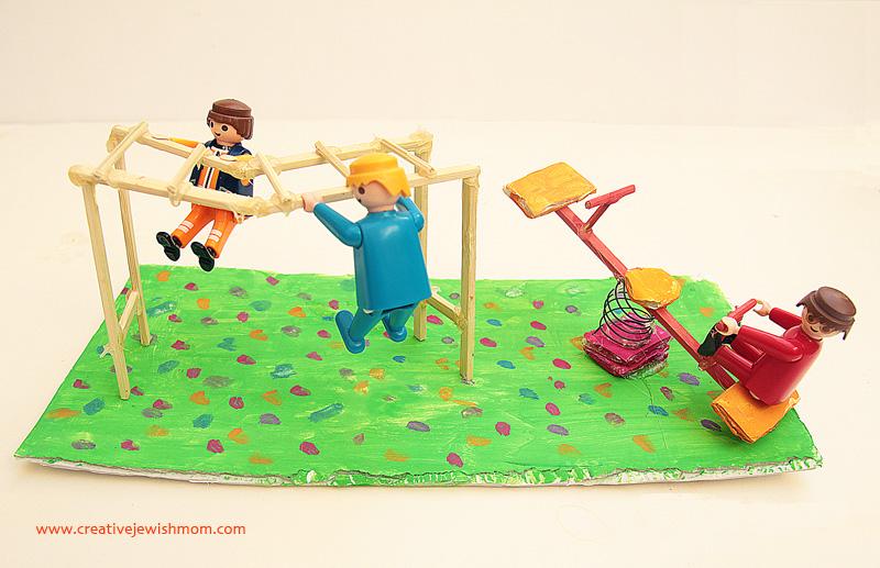 Kids Mini playground craft with monkey bars