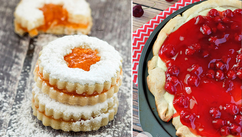 Cherry PIzza, Fruit Jam filled sandwich cookies