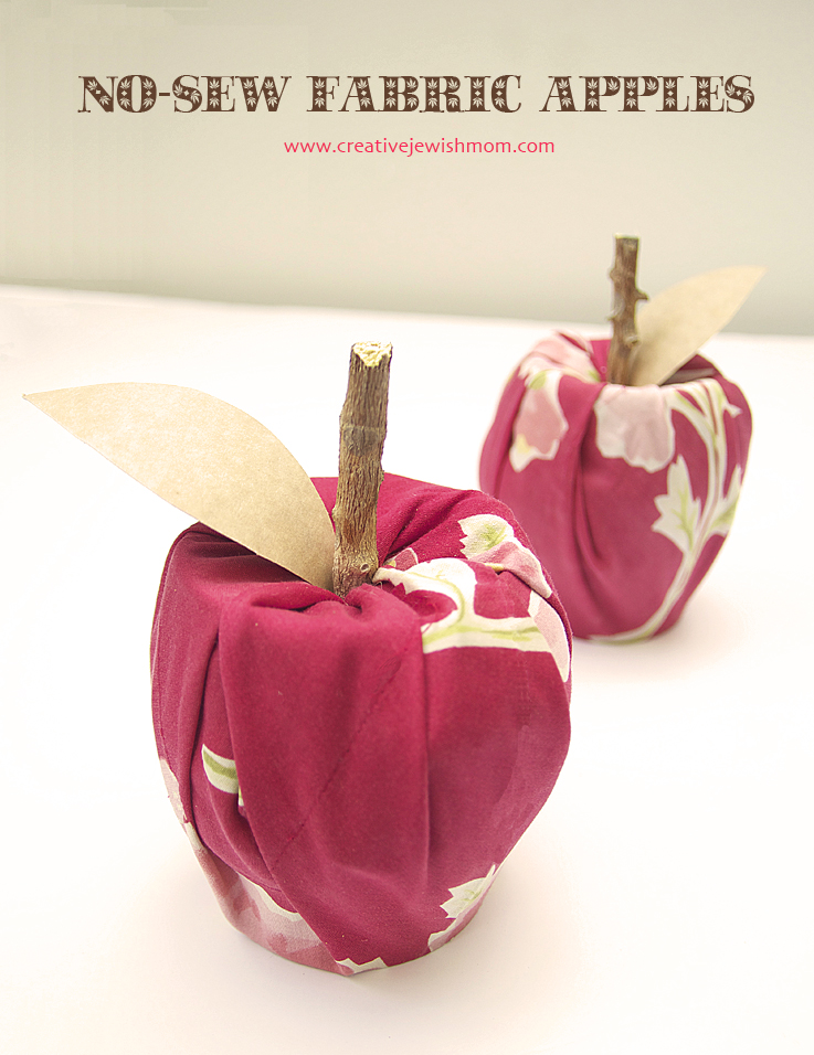 Quick No Sew Apple Craft Using Upcycled Materials Creative Jewish Mom