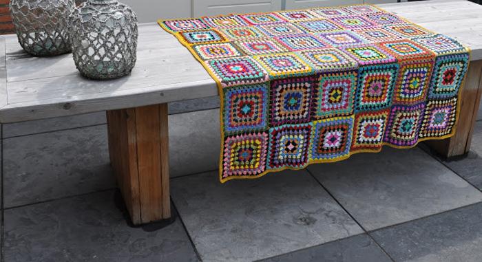 Granny square picnic blanket