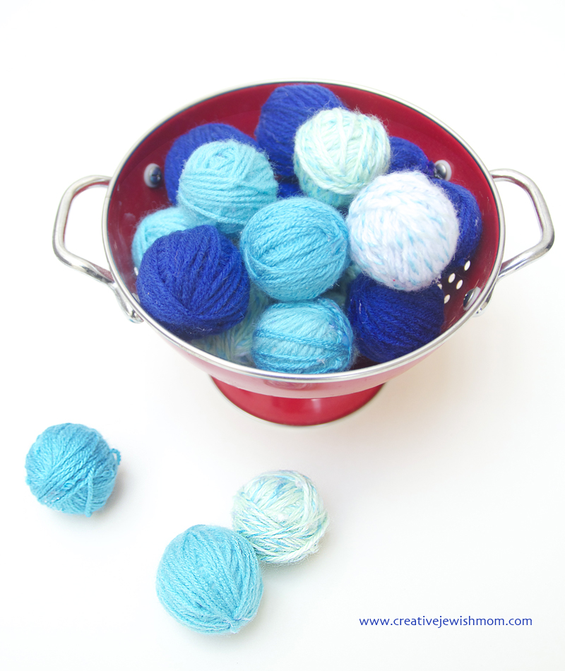 Yarn Balls For Decorating and Crafts