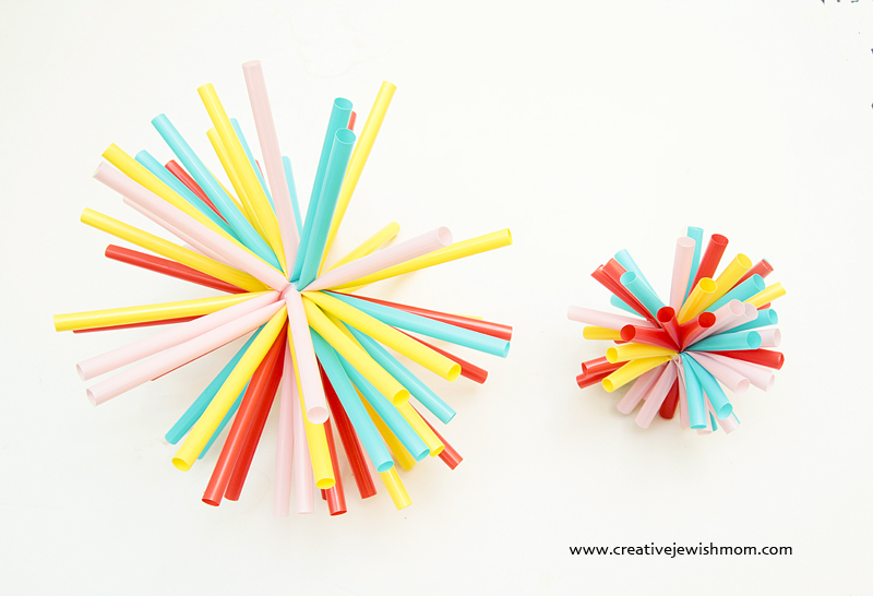 Drinking Straws Starburst Ornaments 2 sizes