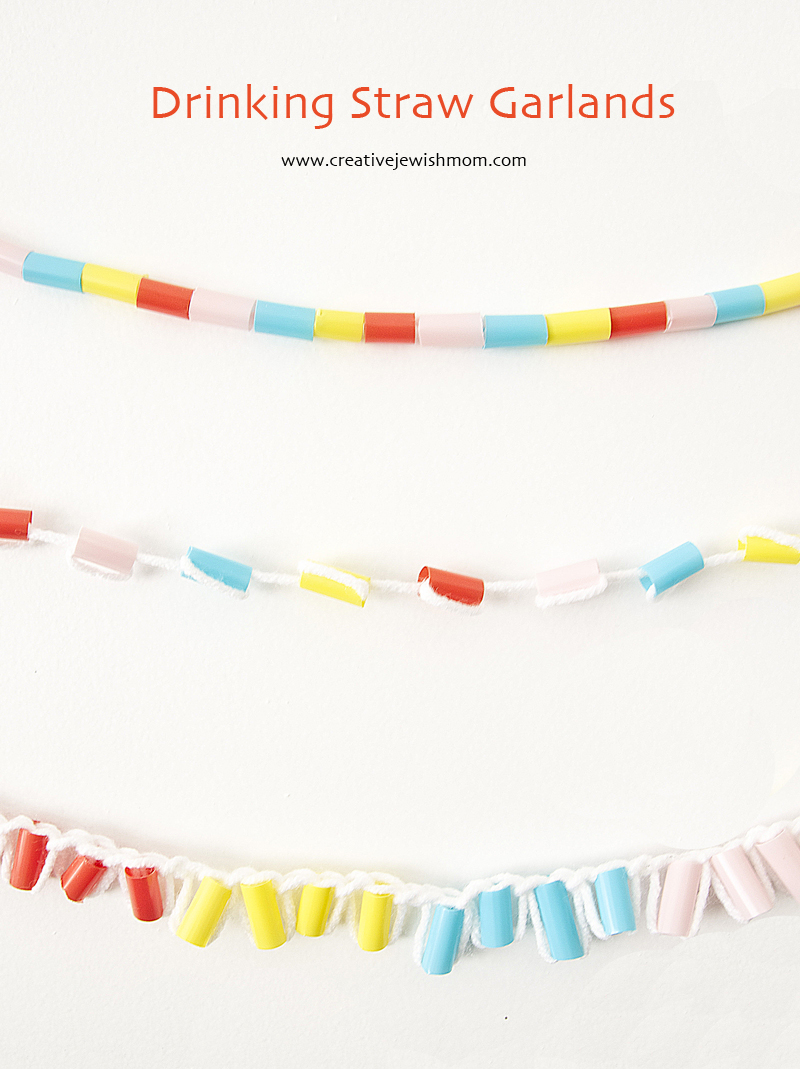 Drinking Straws Garlands