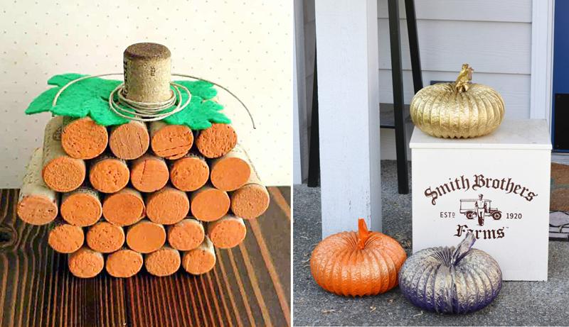 Dryer duct pumpkins,wine cork pumpkin