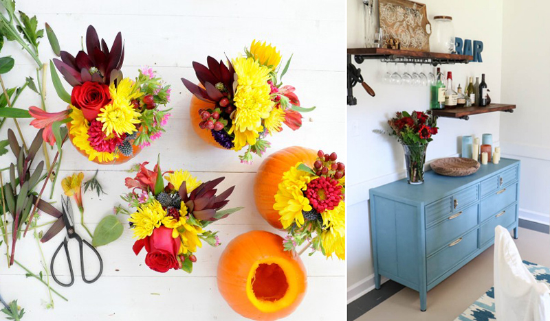 Pumkin flower arrangements,how to paint a dresser